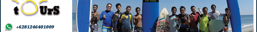 Learn to surf in Lombok island