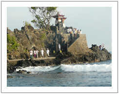 Batu Bolong temple, Lombok city tour