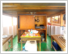 Private Boat cabin Fan kichen
