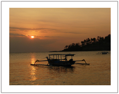 Sunset in Senggigi beach Lombok island